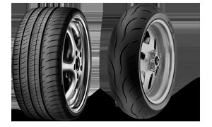 pneus auto et pneus moto